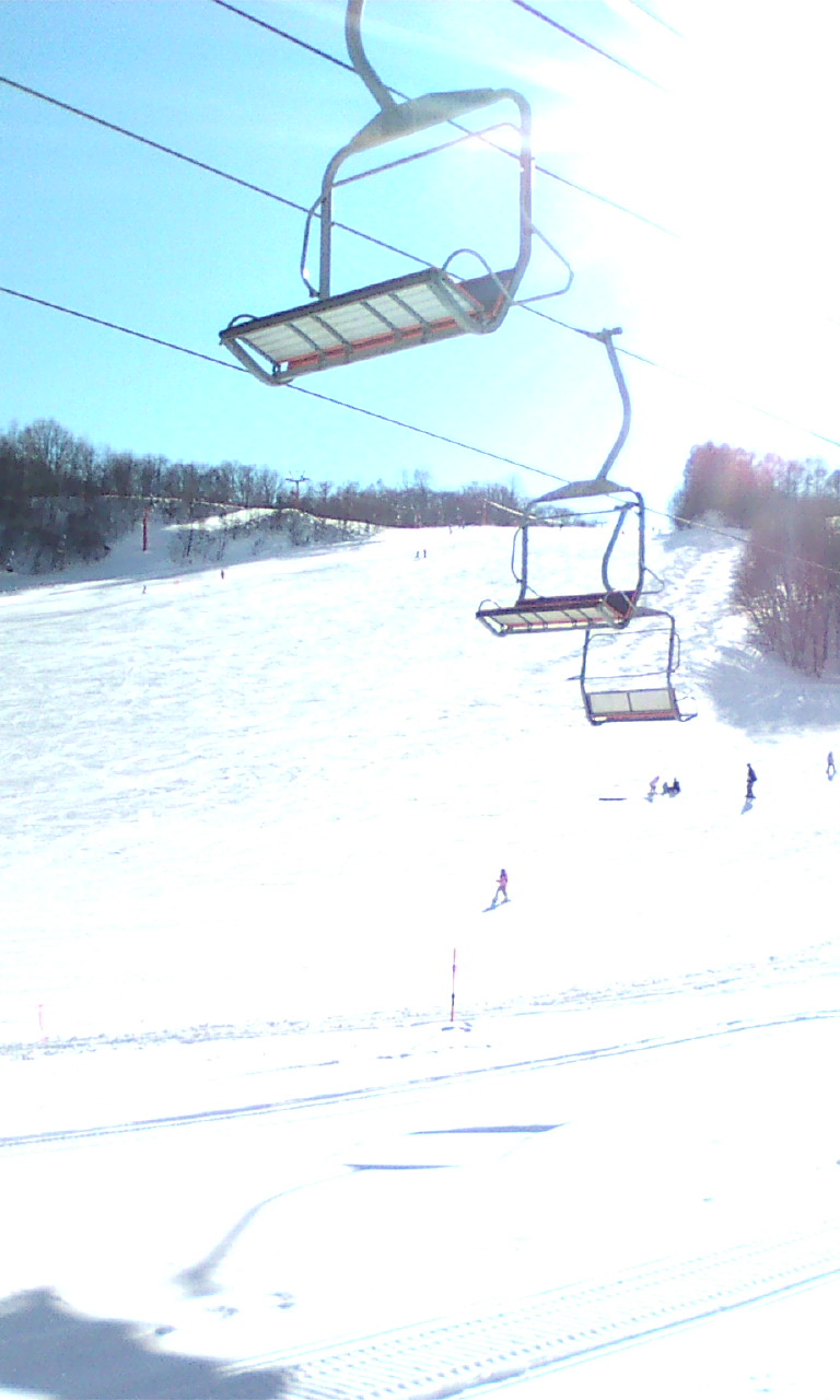 只今スキーに来ています